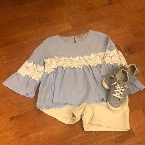 Forever 21 XL Blue Chambray Shirt